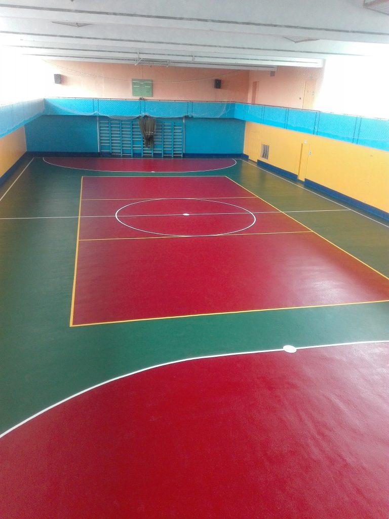 Образец резинового покрытия для спорт зала